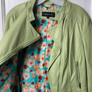 Black River Lime Green Leather Jacket